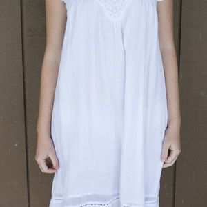 pimkie Dresses - White Midi Dress with Embroidery